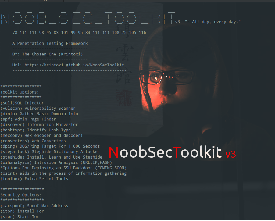 NoobSecToolkit V3 - A Security Students Playground - Cybrary