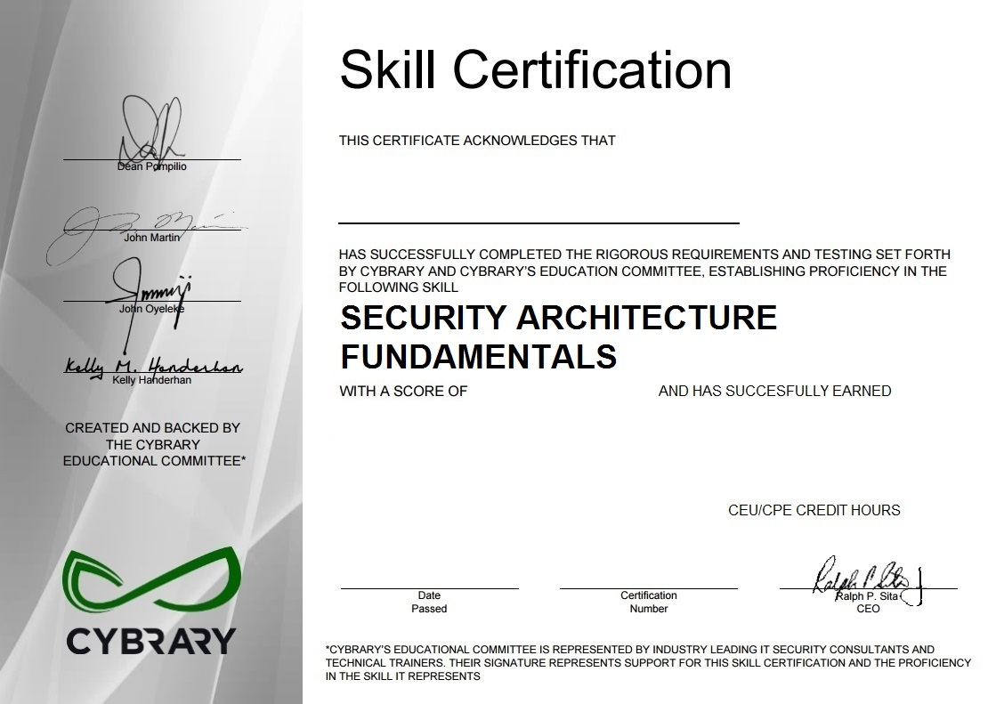 Security Architecture Fundamentals