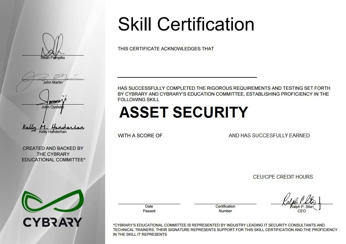 Asset Security