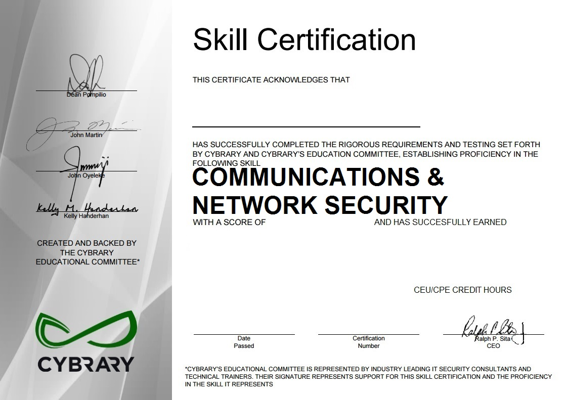 Communication & Network Security
