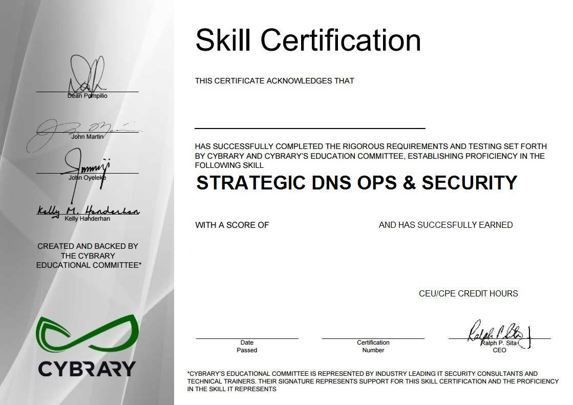 Strategic DNS Ops and Security
