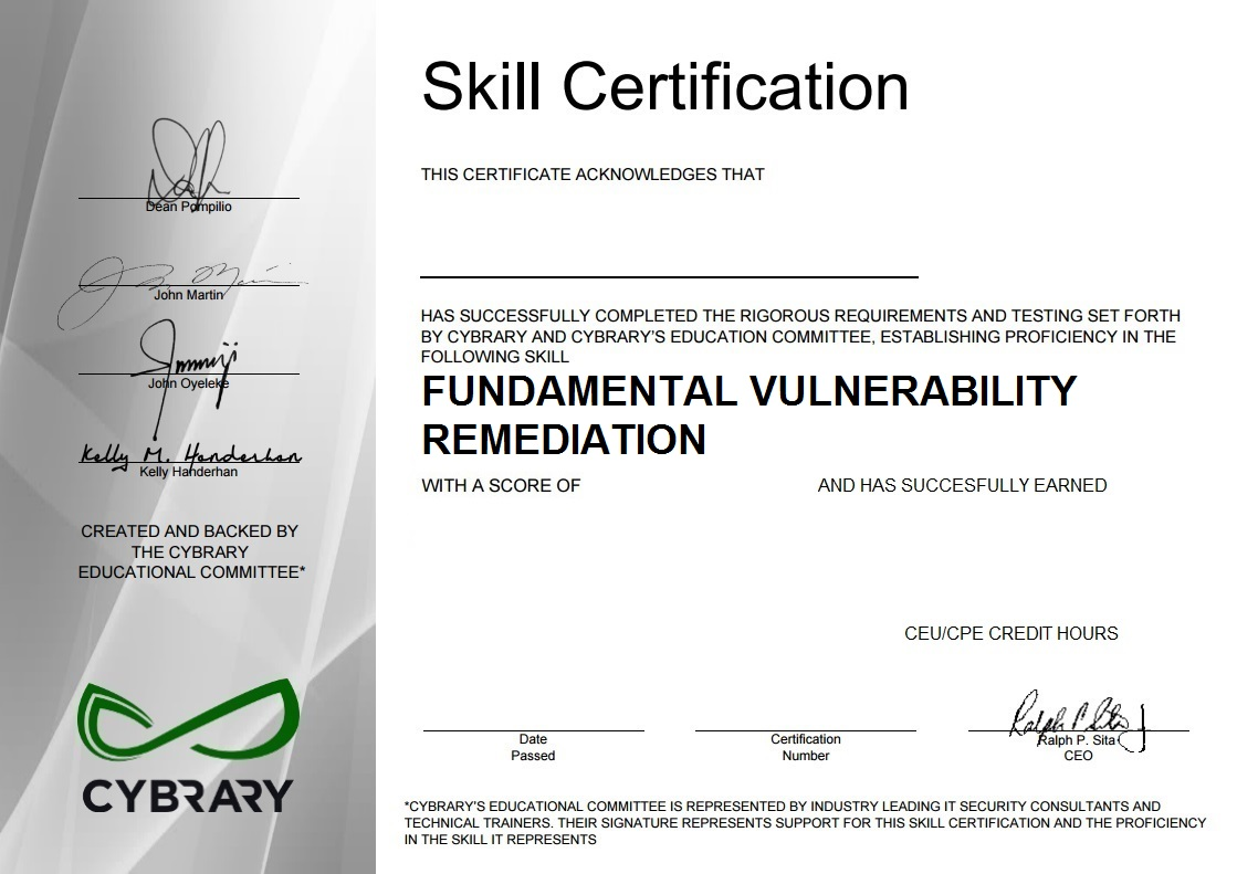 Fundamental Vulnerability Management
