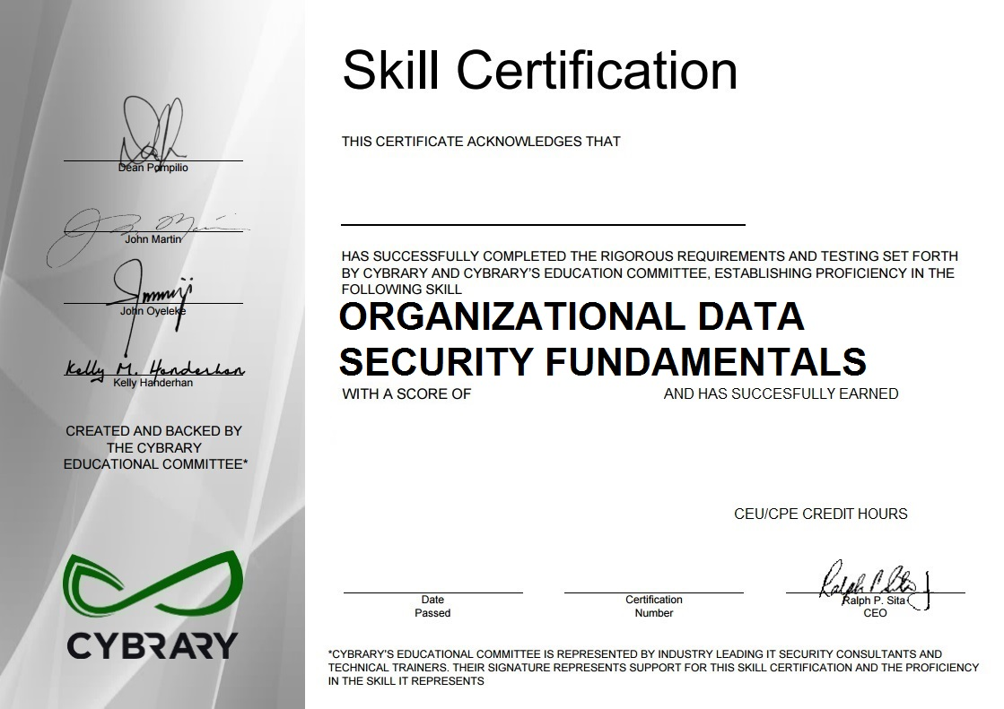 Organizational Data Security Fundamentals