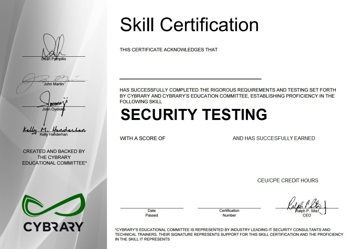 Security Assessment & Testing