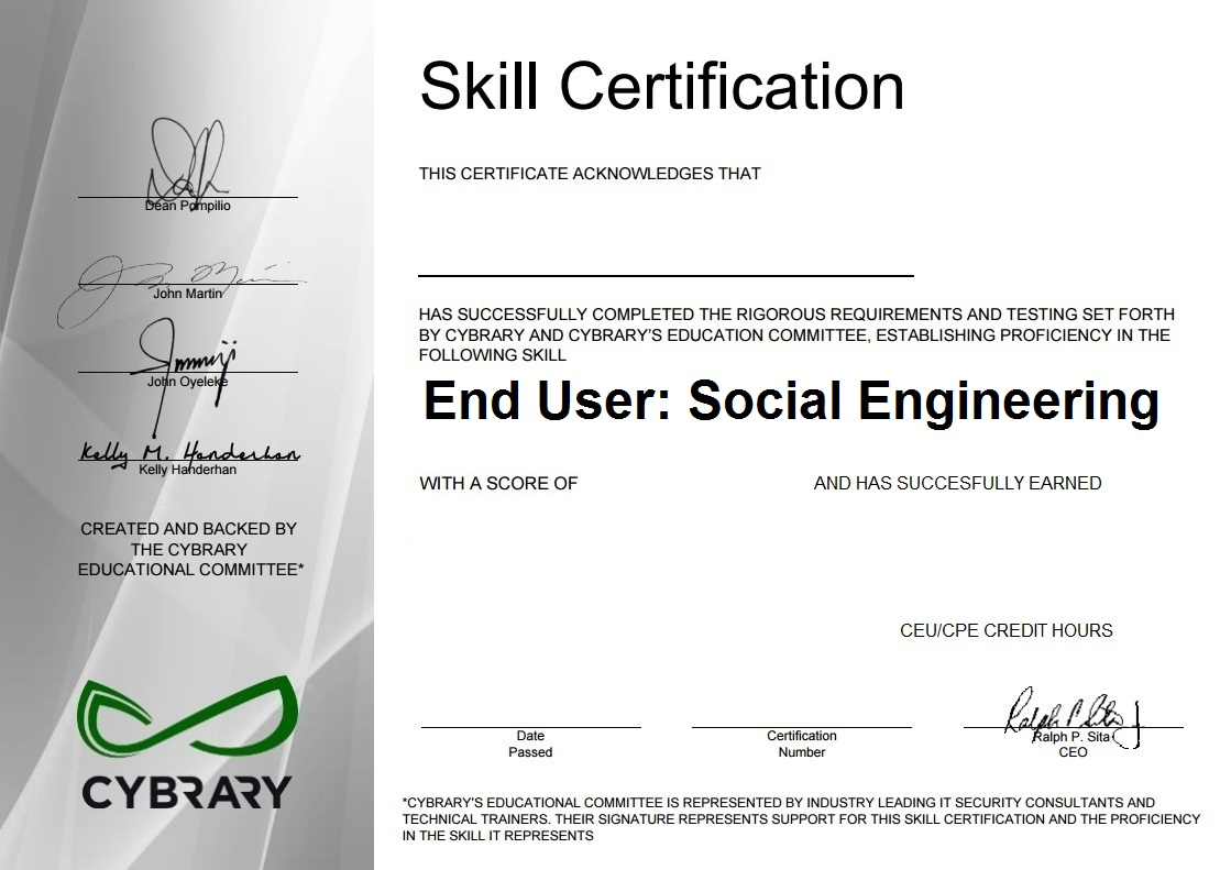 End User: Social Engineering