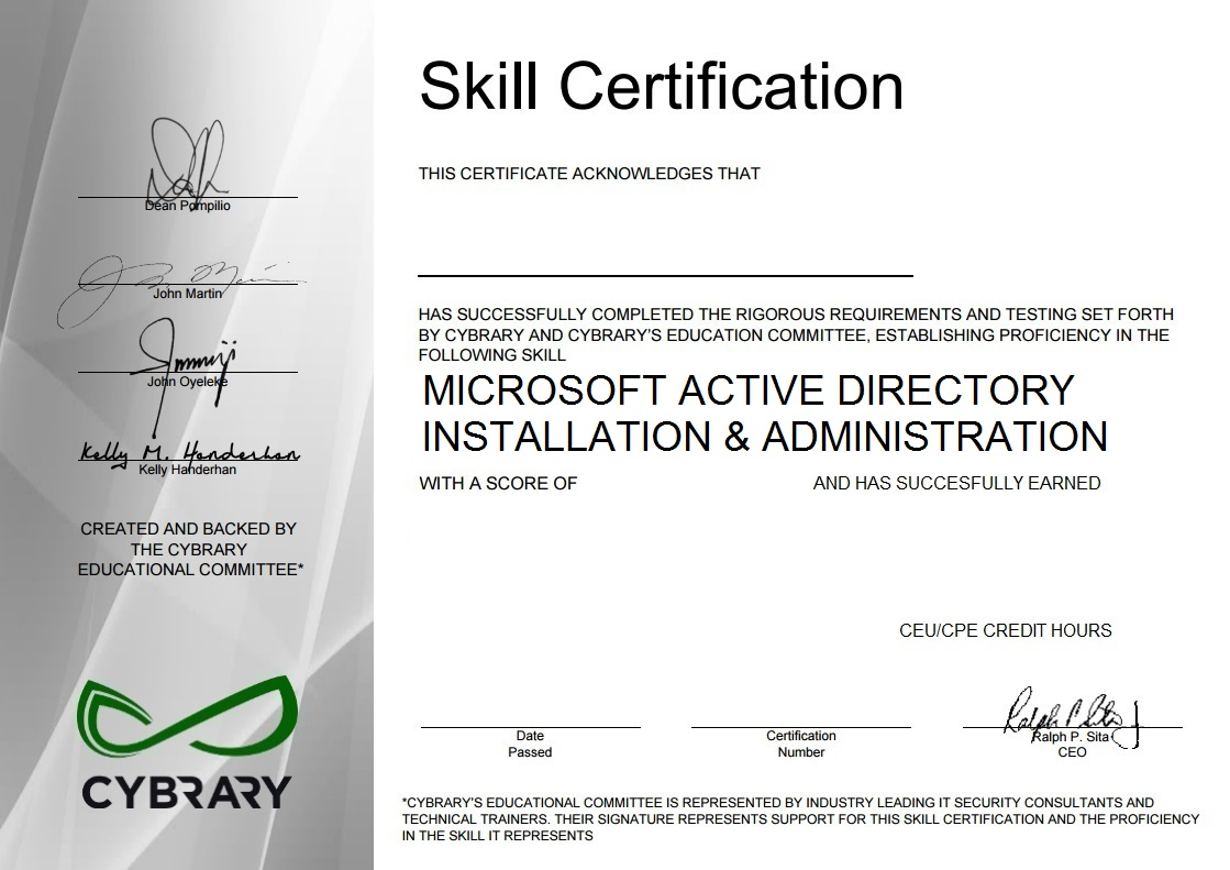 Microsoft Active Directory Installation & Administration
