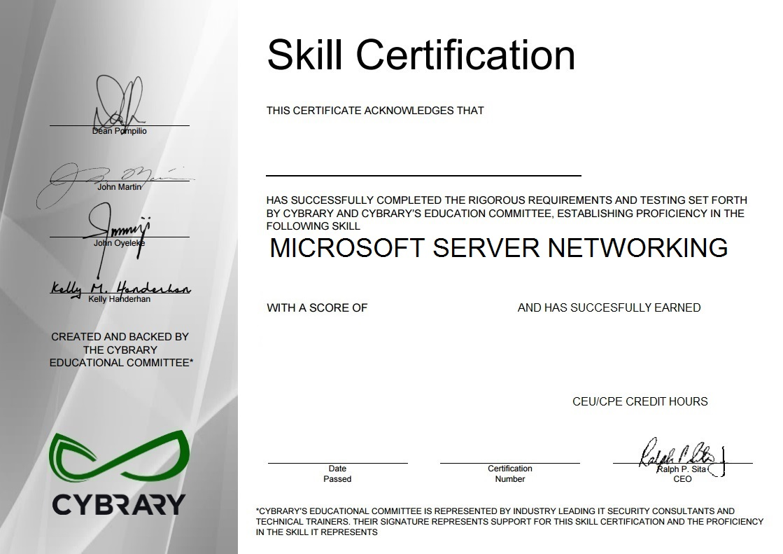 Microsoft Server Networking
