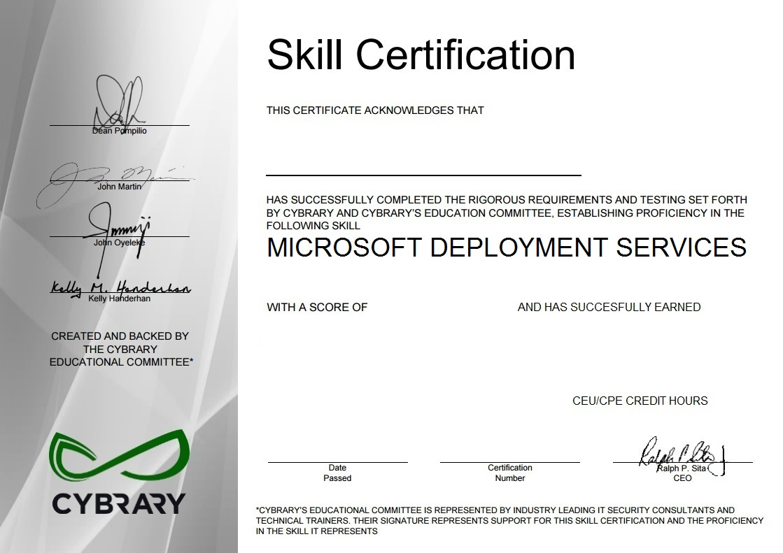 Microsoft Deployment Services
