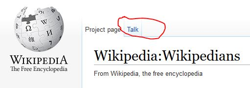 wikipedia.org talk tab
