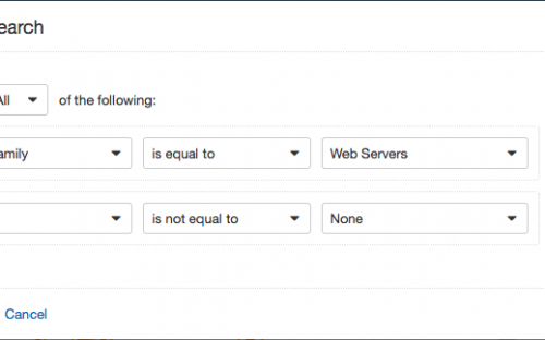Advanced search filter for web servers with priority