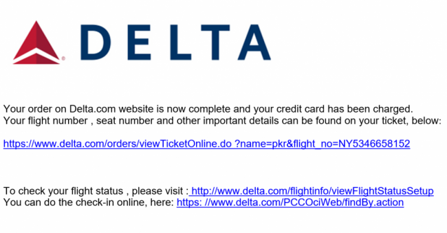 Security Alert Fake Delta Airlines Receipt Spreads