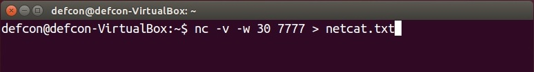 Machine is listening for netcat.txt file