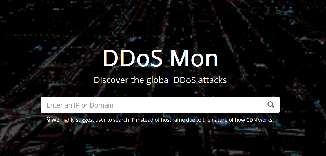 DDoS MON - A DDoS Lookup Tool with Data Drive Insights - Cybrary