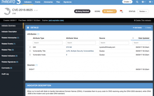 Integrating Qualys with ThreatQ to Correlate Vulnerabilities with
