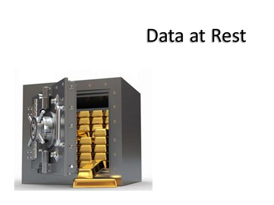 data at rest - gold in safe
