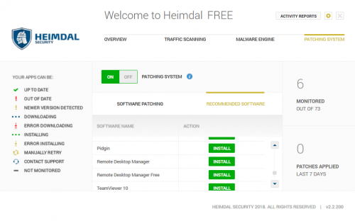 heimdal free automatic patching custom software install