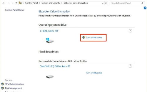 Bitlocker for Windows 10