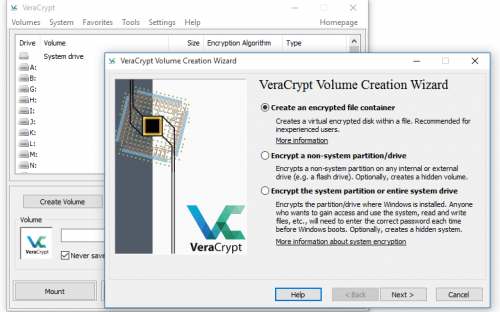 veracrypt screenshot 1