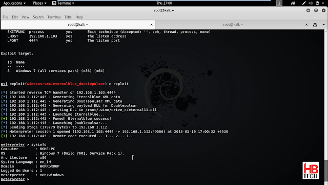 kali linux hack windows server